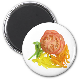 sliced tomato and peppers magnet