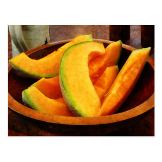 Slices of Cantaloupe Postcard