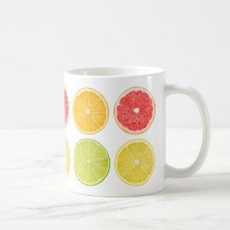 Slices of citrus fruits coffee mug