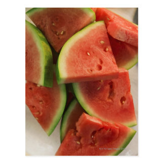 Slices of watermelon postcard