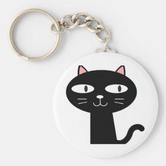 Slick Black Cat Keychain