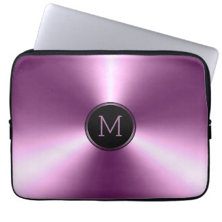 Slick Shiny Metallic Purple Stainless Steel Laptop Sleeve