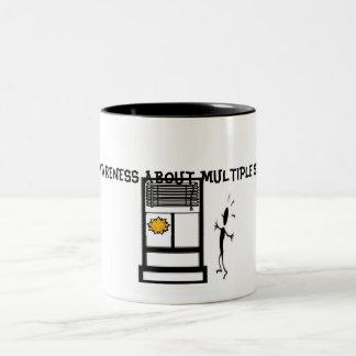 Slide1, RAISE AWARENESS ABOUT MULTIPLE SCLEROSIS Two-Tone Coffee Mug