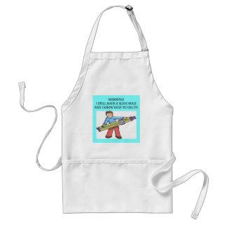 slide rule math humor standard apron