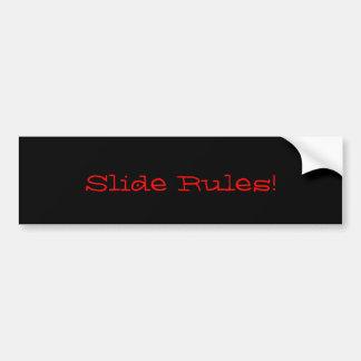 Slide rules Bumper sticker