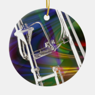 Slide Trombone Christmas Ornament YOU ADD TEXT