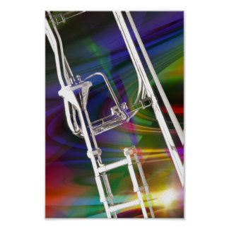 Slide Trombone Poster Photograph Add TEXT