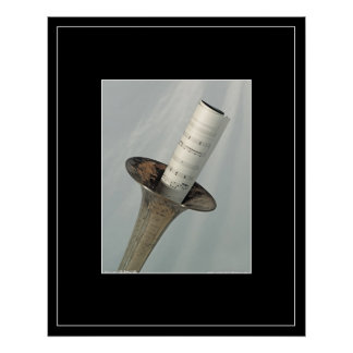 Slide Trombone Still Life Poster