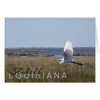 """Slidell, Louisiana"" egret greeting card"