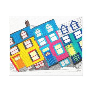 Sliding Scale Houses in St. John's, Newfoundland Canvas Print