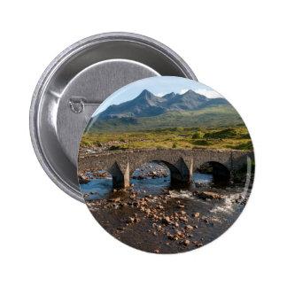 Sligachan Bridge, Isle of Skye, Scotland 2 Inch Round Button
