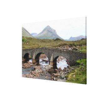 Sligachan Bridge, Isle of Skye, Scotland Canvas Print