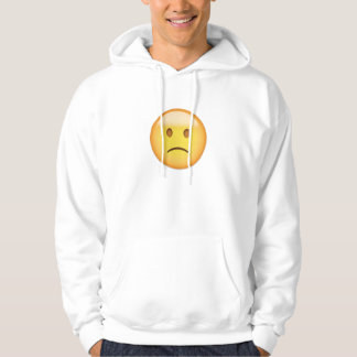 Slightly Frowning Face Emoji Hoodie