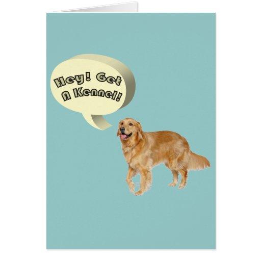 Slightly Less Funny golden retriever Slogan Cards