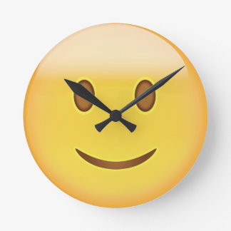 Slightly Smiling Face Emoji Round Clock