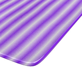 Slim purple and white lines pattern, modern design cutting board