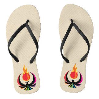 Slim Strap Flip Flops (Phoenix Fire)