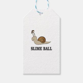 slime ball snail gift tags