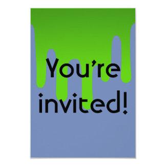 Slime Birthday Invite