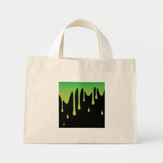 Slime dripping mini tote bag