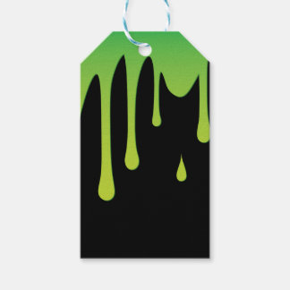 Slime dripping pack of gift tags
