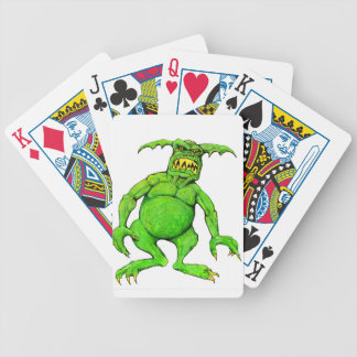 Slimey Green Monster Bicycle Playing Cards
