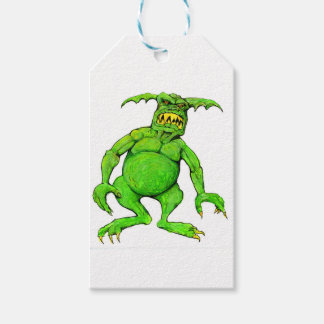 Slimey Green Monster Gift Tags