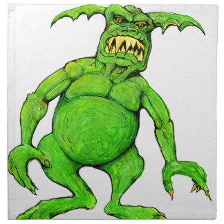 Slimey Green Monster Napkin