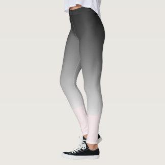 Slimming Black and Pink Gradient Horizon Leggings