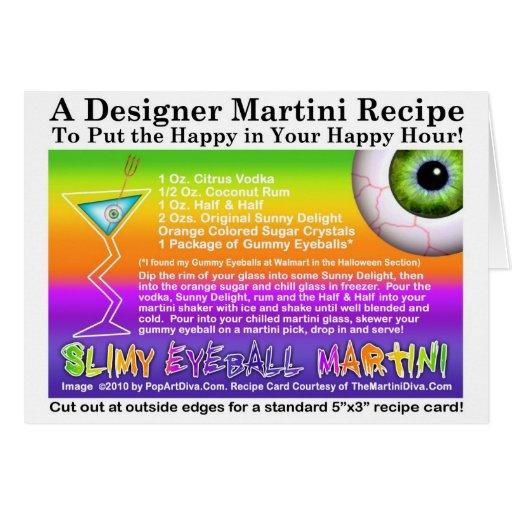 Slimy Eyeball Halloween Martini Recipe Card