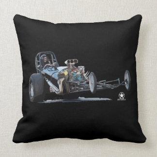 Slingshot Dragster Throw Pillow