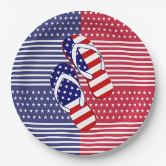 Slip On Over July 4th Party Paper Plates