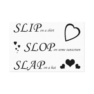 Slip Slop Slap Canvas: Live Laugh Love Replacement Canvas Print