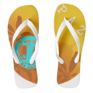 Slipper Peace in Exclusive Rio De Janeiro Aya Flip Flops