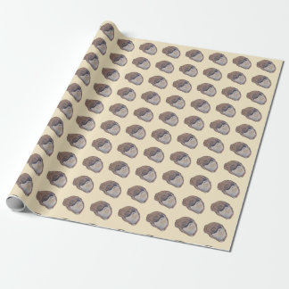 Slipper shell watercolor pattern wrapping paper