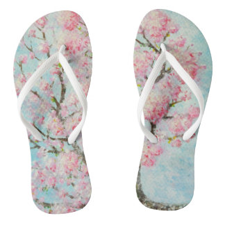 Slipper with artistic print of Ipê Rosa Flip Flops