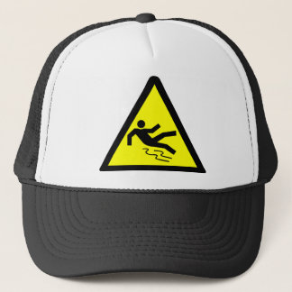 Slippery Surface Warning Trucker Hat