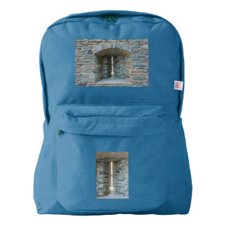 slit of a castle on American Apparel™ Backpack, Backpack