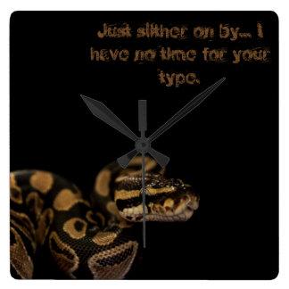 Slither On By Snake Clock