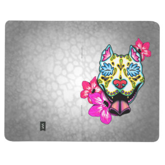 Slobbering Pit Bull Day of the Dead Sugar Skull Journal
