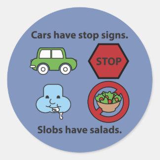 Slobs have salads. classic round sticker