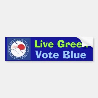 SLOCDP Live Green Vote Blue Bumper Sticker
