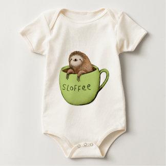 Sloffee Coffee Sloth Baby Bodysuit