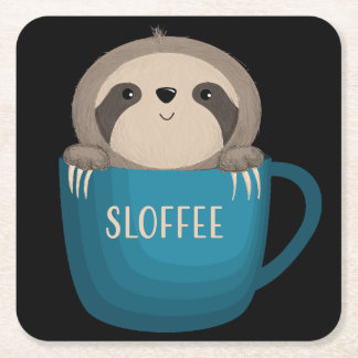 Sloffee! Square Paper Coaster