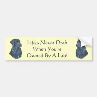 slogan d'une manière amusante de chien noir de lab autocollant de voiture