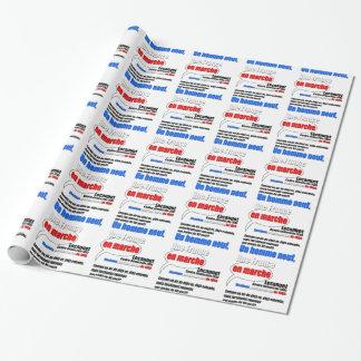 Slogan En Marche Wrapping Paper