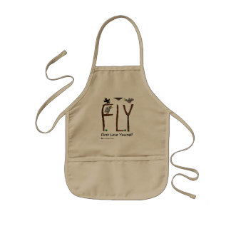 Slogan FLY First Love Yourself Kids Apron