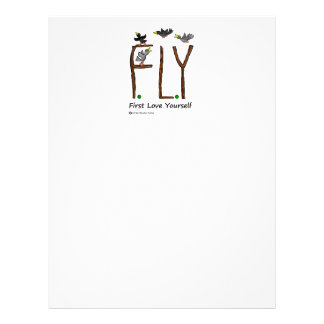 Slogan FLY First Love Yourself Letterhead Template