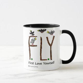 Slogan FLY First Love Yourself Mug