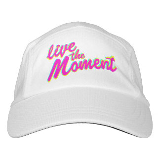 Slogan live the moment hat